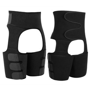 2 Pack Adjustable 3 in 1 Waist Trainer Shaping Neoprene Thigh Shaper High Waist Ultra Light Thigh Trimmer Butt Lifter