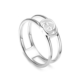 100% 925 Sterling silver fashion women men vintage letter holloy out love wedding silver jewlary rings