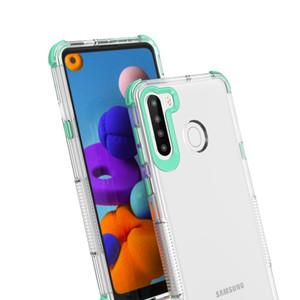phone case For Motorola G Fast Stylus E7 E 2020 TPU PC Transparent Back 4 Corners Protection Anti Fall Phone Case Cover