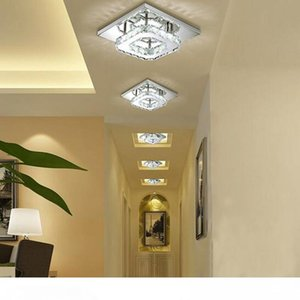 Square LED Crystal Chandelier Light for Aisle Porch Corridor Stairs wth LED Bulb 12 Watt 100% Guarantee