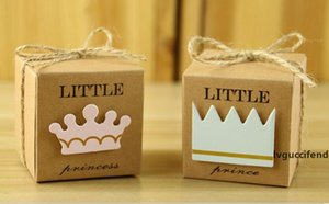 Festive Kraft Paper Gift Box Candy Boxes Baby Shower Decorations Wedding Favors and Gifts Box for Guests 2*2*2inch Party Supplies