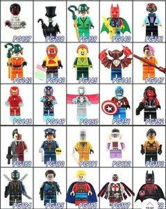 Children's toys compatible with building blocks 50 random models superhero series Avengers Iron Man Black Panther Superman minifigures gif03