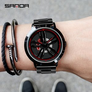 High-End New TikTok Watch Fashion Mens Student Casual Waterproof Steel Belt Rotating Watch Mens Generation