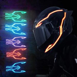 4-in-1 Aggiornato casco moto notturno a sterzata a sterzata a sterlina lampeggiante a LED Adesivo luminoso universale striscia universale Caricabatterie USB RD0Y #