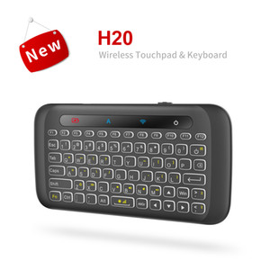 English H20 Full Touchpad Backlit Mini Keyboard with 2.4G Wireless IR Remote Control for Smart TV Android Box PC