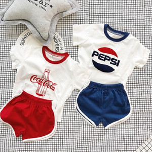 2019 Brother Sister Matching Clothes Boys Clothing Sets Summer Toddler Girls Two Pieces Shirt+ Shorts Family Matching Outfits T200713