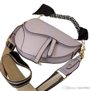 2020 nuevos Dior bolsos monederos mujer un hombro bolsa de diseñador de silla diagonal negro y blanco roca taro gris púrpura vienen con pañuelo de seda