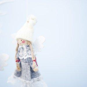 2PCS Angel Design Christmas Pendant Drop Ornaments Xmas Tree Hanging Decorations Holiday Gift