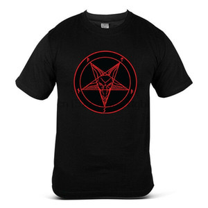 Hagel Satan Baphomet Symbol satanische Kirche Goth Unholy Demonic Mens-T-Shirt