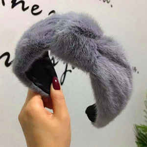 Accesorios para el cabello invierno gruesa peluda Hairbands wide piel de imitación de felpa cabeza banda Bisel Cordero de lana pelo de la venda de las mujeres