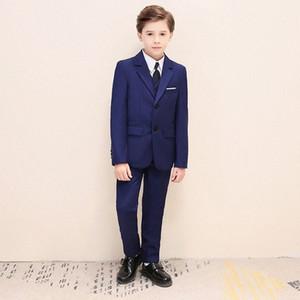 2020 2020 Handsome Blue Boys Formal Wear Jacket Pants Set Suits For Wedding Dinner Children Kids Tuxedos WaS9#