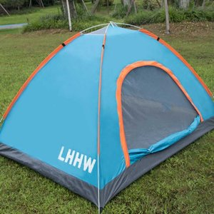 LHHW Family Ultralight Camping Tents Outdoor 1-4 People Up Folding Hiking Equipment Carpa Plegable