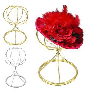 2pcs Balloon Style Metal Hat Helmet Holder Tabletop Wig Display Stand 22cm