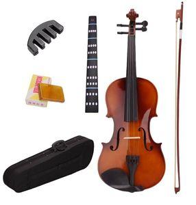 4/4 Полного размера Natural Acoustic Скрипка Скрипка с футляром Bow канифоль Mute Наклейка