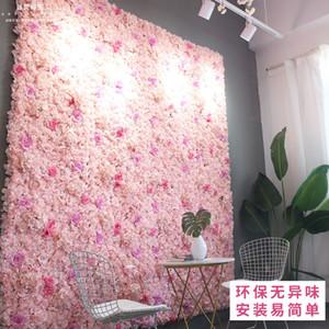 Yapay çiçek duvar 60 * 40cm ortanca çiçek arka plan düğün çiçekleri ev partisi Düğün dekorasyon aksesuarları gül