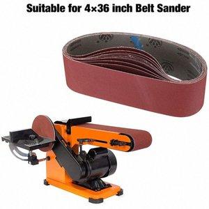 10 pièces 4 x 36 pouces Ceintures d'oxyde d'aluminium Sanding Heavy Duty Sanding Ceintures polyvalent pour Abrasive Belt Sander j8Q6 #