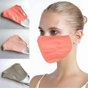 3 colori moda panno Bling Bling maschera di protezione per le donne anti-polvere traspirante lavabile volto della copertura di trasporto