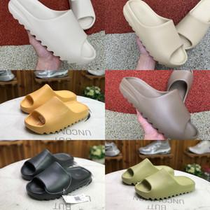 450 Köpük Runner Kanye West Tıkanıklık Sandal Üçlü Siyah Slide Moda Terlik Kadınlar Erkek Tainers Plaj Sandalet Kayma-on Ayakkabı 36-45