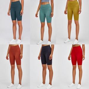 polainas diseñador de las mujeres de yoga pantalones cortos para mujer de gimnasio de entrenamiento lu desgaste 32 68 deportes de color sólido elástico dama de fitness medias general v6dv2c88f corto #
