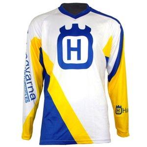 بقعة HUSQVARNA الملابس انحدار مشترك على الطرق الوعرة ذات أكمام طويلة تي شيرت الملابس دراجة نارية DH الدراجة الجبلية الملابس قميص