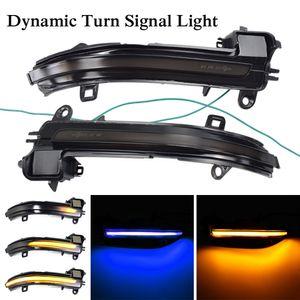 Blue-Yellow LED Dinâmico turno sinal Blinker Espelho Flasher Luz Para BMW 1 2 3 4 Series X1 F20 F22 F30 F34 F32 E84
