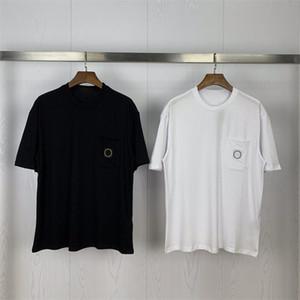 Erkek T Shirt 2020 Erkekler ve Kadınlar Moda Basit cep rozeti Polos Kısa Kollu T Shirt Stilist Yüksek Kaliteli Hip Casual Tee Hop