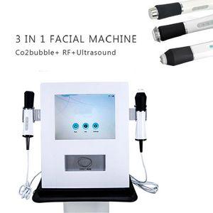 3 en 1 blanchiment de la peau / anti-rides de vieillissement / oxigeno machine de massage facial avec oxygéno rf ultrasonique