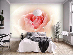 3d wallpaper custom photo Rose flower dream pink 3D three-dimensional flower TV background wall home decor muals wall paper for walls 3 d