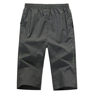 Rollsrari Сплошной цвет Мужчины шорты теленок длины Новое лето Мужская мода пляжные шорты Повседневная Мужской Марка одежды Quick Dry 98