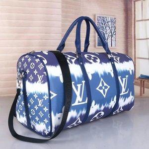 50CM grande capacità bambinone auspicio borse da viaggio Lettera spalla qualità sacchetto crossbody sacche svolgono rivetti bagaglio fondo con la testa di blocco