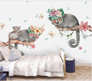 3d wallpaper custom photo mural Nordic simple flower cute animal children house background wall decorative landscape wall tapestry 3d