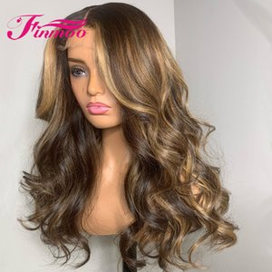 Honey Blonde Wig Body Wave Lace Front Human Hair Wigs For Women Ombre Human Hair Wig 13x4 Colored Brown Wigs Peruvian Remy 180%