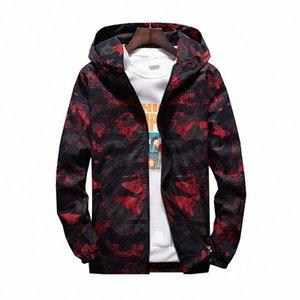 MORUANCLE 2019 para hombre primavera Camo chaqueta de las chaquetas de camuflaje con capucha informal para los jóvenes más el tamaño M 7XL prendas de vestir exteriores # fuxL