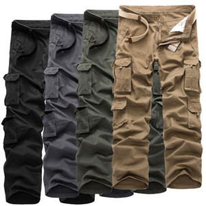 Mens Streetwear Hip Hop Casual Long Length Straight Pants Solid Plus Size Pocket Joggers Male Trouers