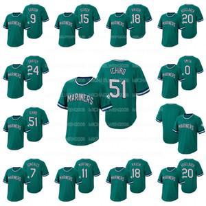 Ichiro Suzuki Wild Pitch Jersey Mallex Smith Daniel Vogelbach Domingo Santana Dee Gordon Kyle Seager Ken Griffey Jr. Yusei Kikuchi Jerseys