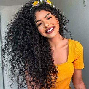 Curly Human Hair Wig 360 Lace Frontal Wig Preplucked With Baby Hair Brazilian Deep Curly Invisible Knots Natural Peruvian Remy