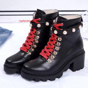 Mode cuir étoile chaussures femmes cuir courte automne et concepteur de la cheville imperméable plateforme hiver de la mode des femmes marque Martin bottes