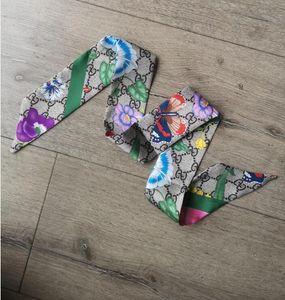 I più nuovi sciarpe fascia per capelli sciarpa di seta di marca stilista Top di seta livello di moda del nastro bow tie fascia sciarpe spedizione