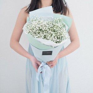 Fleurs artificielles Rustic Neige Corolle entremêlement gypsophile Simulation plastique fleur pour la maison décoration de mariage A1850 YVdh #