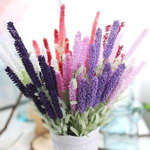 12 teste di lavanda Provenza gomma piuma del PE fiore decorativo di fiori artificiali per la decorazione domestica Wedding del partito regalo di Natale Decor