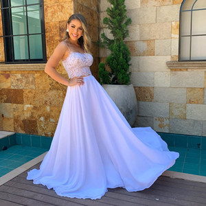 2020 Plus Size Arabic Aso Ebi Lace Two Pieces Beach Summer Wedding Dresses Spaghetti Pearls Bridal Dresses Chiffon Cheap Wedding Gowns ZJ944