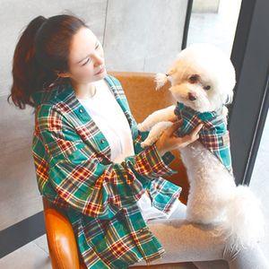 Cotton Chihuahua verão respirável Camisa Xadrez Matching Proprietário-filhote de cachorro Roupa do animal de estimação roupas para cachorros para cães pequenos Animais Roupas XS-XXL T200710