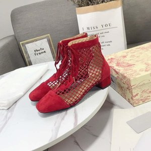 Women s High-Top Flats FISHNET SUEDE BOOT BLACK GOLD FISHNET BOOT Lace Up Boots Tassel Luxury Designer Shoes Square Toe