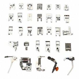 Pés 32PCS Presser Conjunto acessórios para Máquina de costura Low Shank Bordados Artes Máquina, Artesanato Costura TB Venda 8peh #