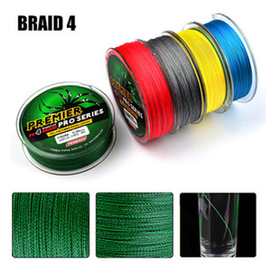 Luckinvoke 100M Fishing Line 6-100LB PE Material 4 Strands 0.4-10 Max Tension 40.8kg Multifilament Braided Wire Muliti Colors