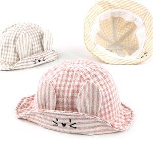 Cute Baby Infant Summer Outdoor Bucket Hat Children Floral Print Cartoon Cap Sun Beach Cap Lovely Baby Girl Hats Cotton Visors