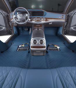 Pelle Diamond Series Car Mat 3Pcs Full Set Carpet impermeabile anti-Slip agugliato Protect Auto Piano di trasporto