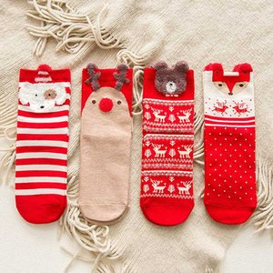 1pair Christmas Gifts for Kids 25*8cm Christmas Socks Women's Socks New Year Gifts Stockings New Year 2020
