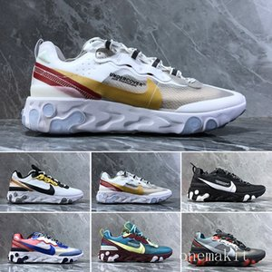 React Element 55 87 running shoes for men women top quality triple black Royal Tint Metallic Gold mens trainer sports sneakers runners YTIO2