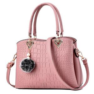 여성의 어깨 가방 2020 딥 퍼플 컬러 소프트 PU 가죽 가방 패션 브랜드 메신저 가방 여성 대용량 핸드백 토트 백